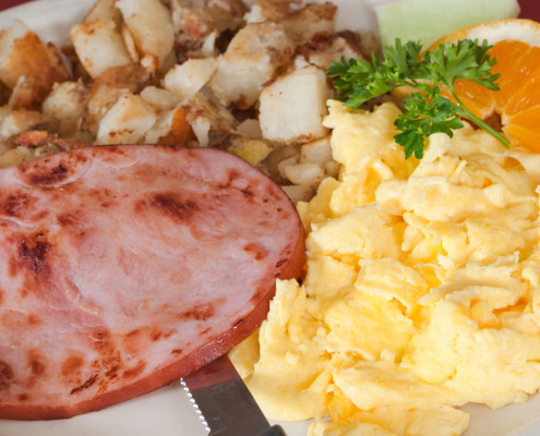 ham eggs and potatoes