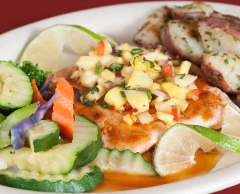 Hobee's chicken with vegetables