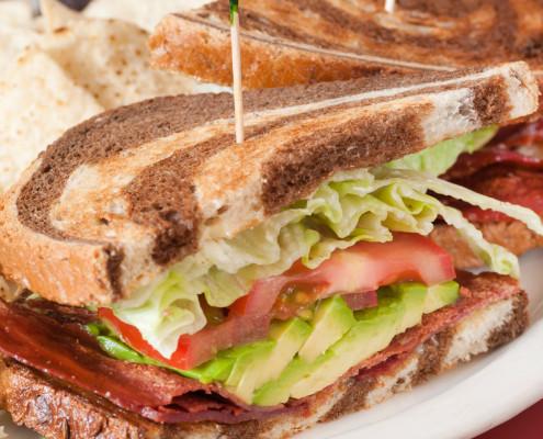 Hobee's toasted sandwich on zebra rye