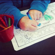 Child coloring Hobee's kids' menu