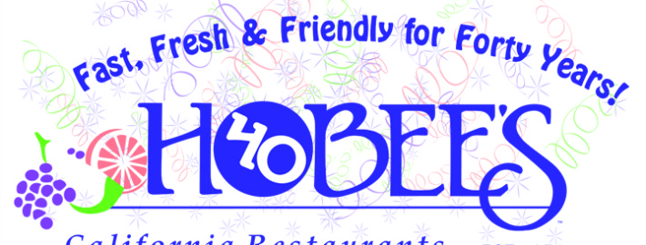 Hobee's forty years logo