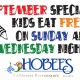 Hobee's Kids eat free Sunday and Wednesday night ad