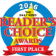 readers choice award first place 2016