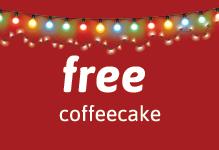 Hobee's free holiday coffeecake tile