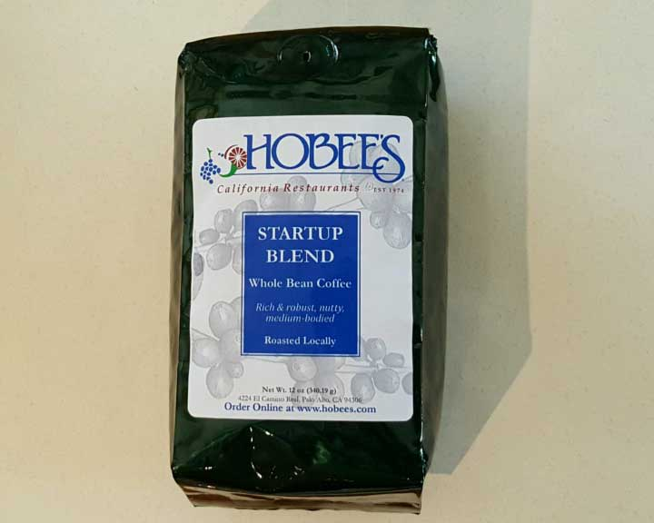 Hobee's startup blend coffee