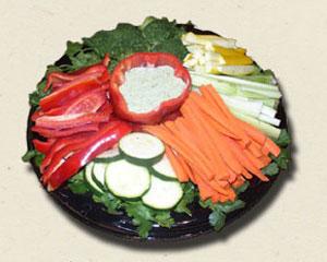 seasonal veggie platter