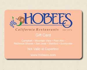 Hobee's gift card