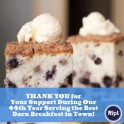 Coffeecake thank you ad